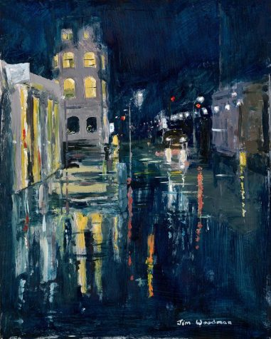 Wet Day on Southwark Street, 26cm x 26cm